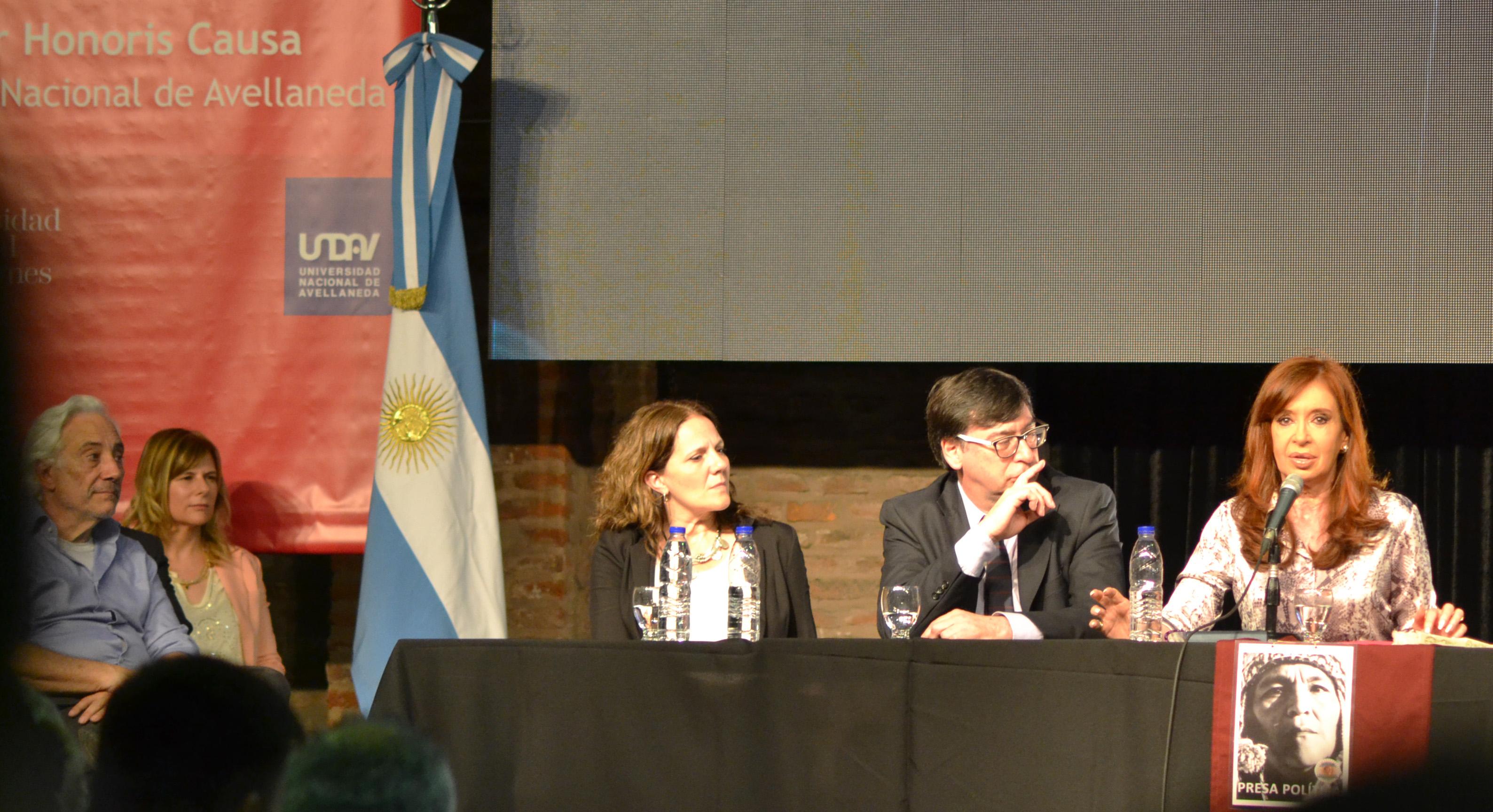 Saintout participó de la entrega del Doctorado Honoris Causa a Cristina Fernández de Kirchner