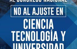 Universitarios se movilizan al Congreso contra el ajuste del macrismo en ciencia y tecnología