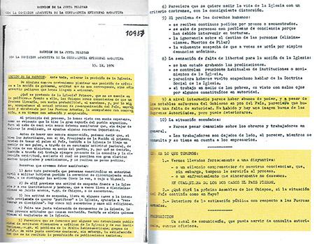 La Iglesia argentina intenta ocultar cómo los obispos defendían al terrorismo de Estado ejercido por la dictadura cívico militar