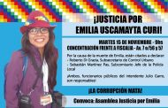 Convocan a movilizarse por Emilia Uscamayta Curi cuando declaren los funcionarios de Garro involucrados en su muerte