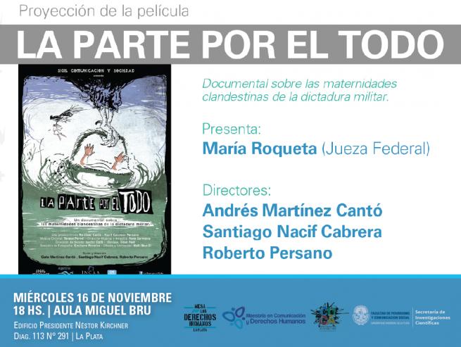 Se proyectará en Periodismo una película sobre maternidades clandestinas en la dictadura