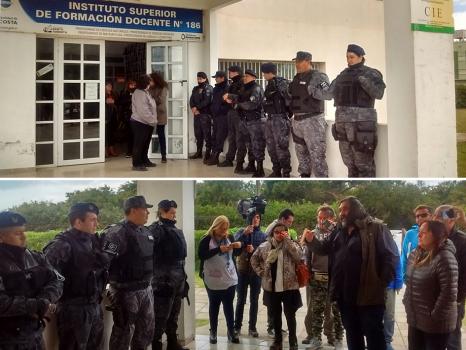 En medio del rechazo al recorte educativo, Vidal despliega policías para intimidar a los docentes