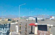 La policía de San Juan a los palos y con todo contra una protesta antiminería