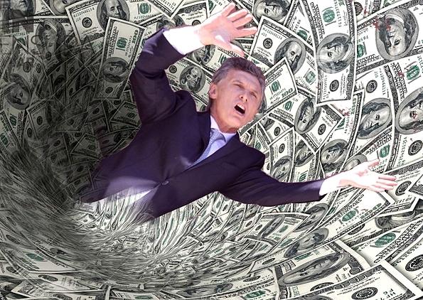 Macri parece el capanga de una gavilla de endeudadores seriales