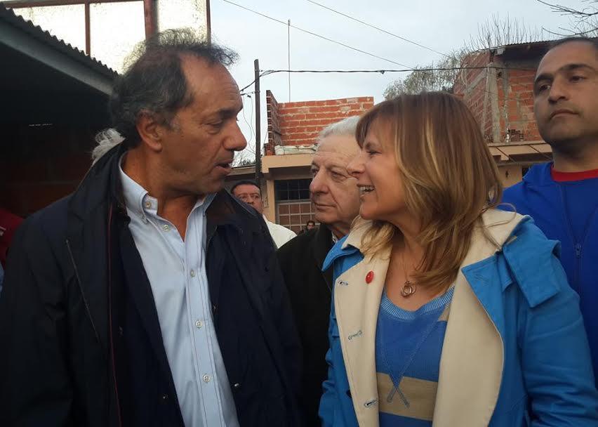 Daniel Scioli decidió acompañar con todo a Florencia Saintout en La Plata