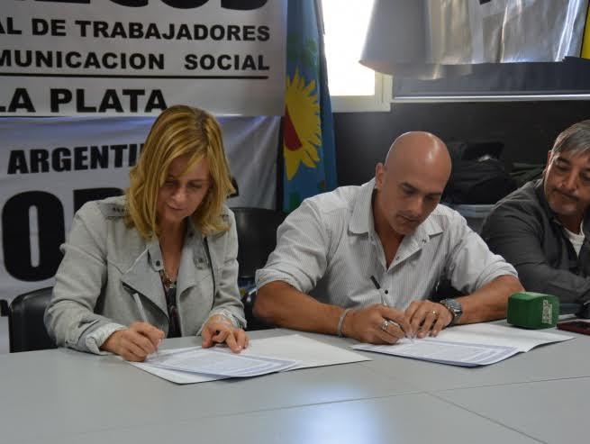 Florencia Saintout por la Facultad de Periodismo de la UNLP apunta a crear empleos en acuerdo con los sindicatos de trabajadores de la comunicación