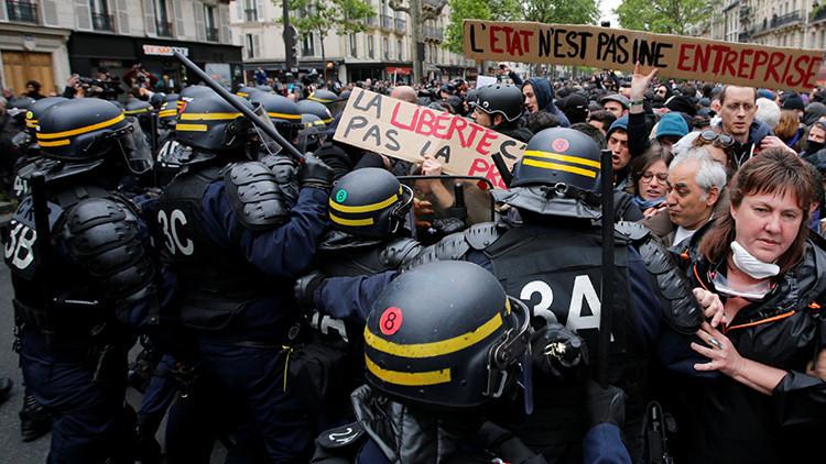 Más represión en Francia tras el triunfo del neoliberal Macron