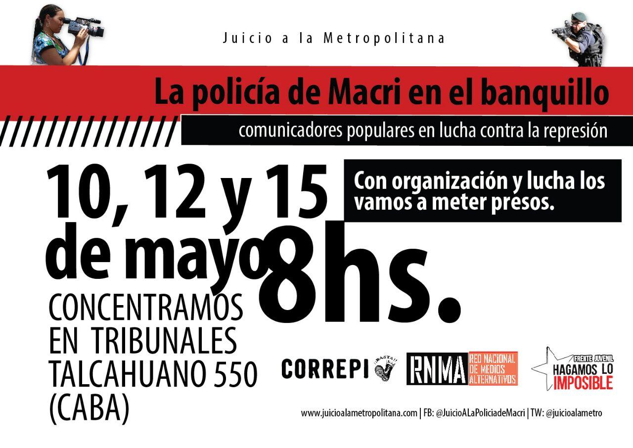 Juzgan a los asesinos yutas de Macri por la represión en Sala Alberdi