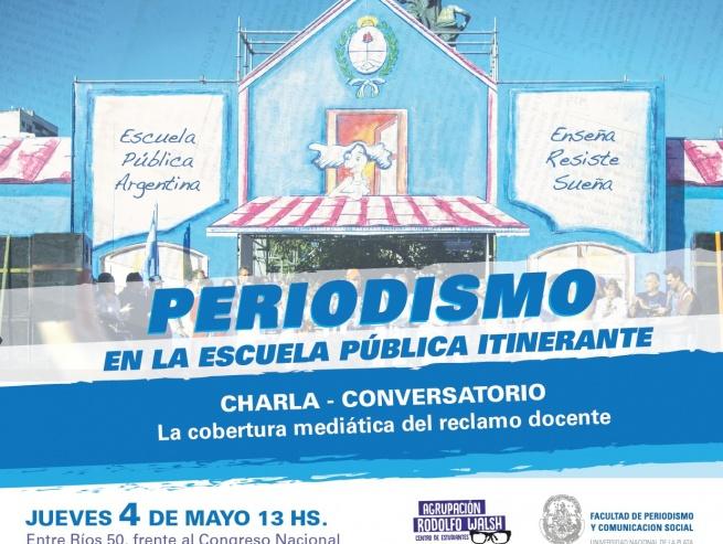 Periodismo de la UNLP participa de la escuela pública itinerante