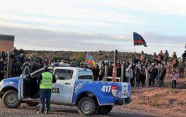 La policía ataca sin piedad a mapuches en Vaca Muerta