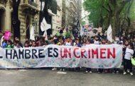 En La Plata se movilizaron para reclamarle a Vidal por las políticas de hambre y de criminalización de la infancia