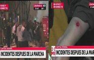 Heridos de bala, apaleados, detenidos y una verdadera cacería policial después del acto en la Plaza por Santiago