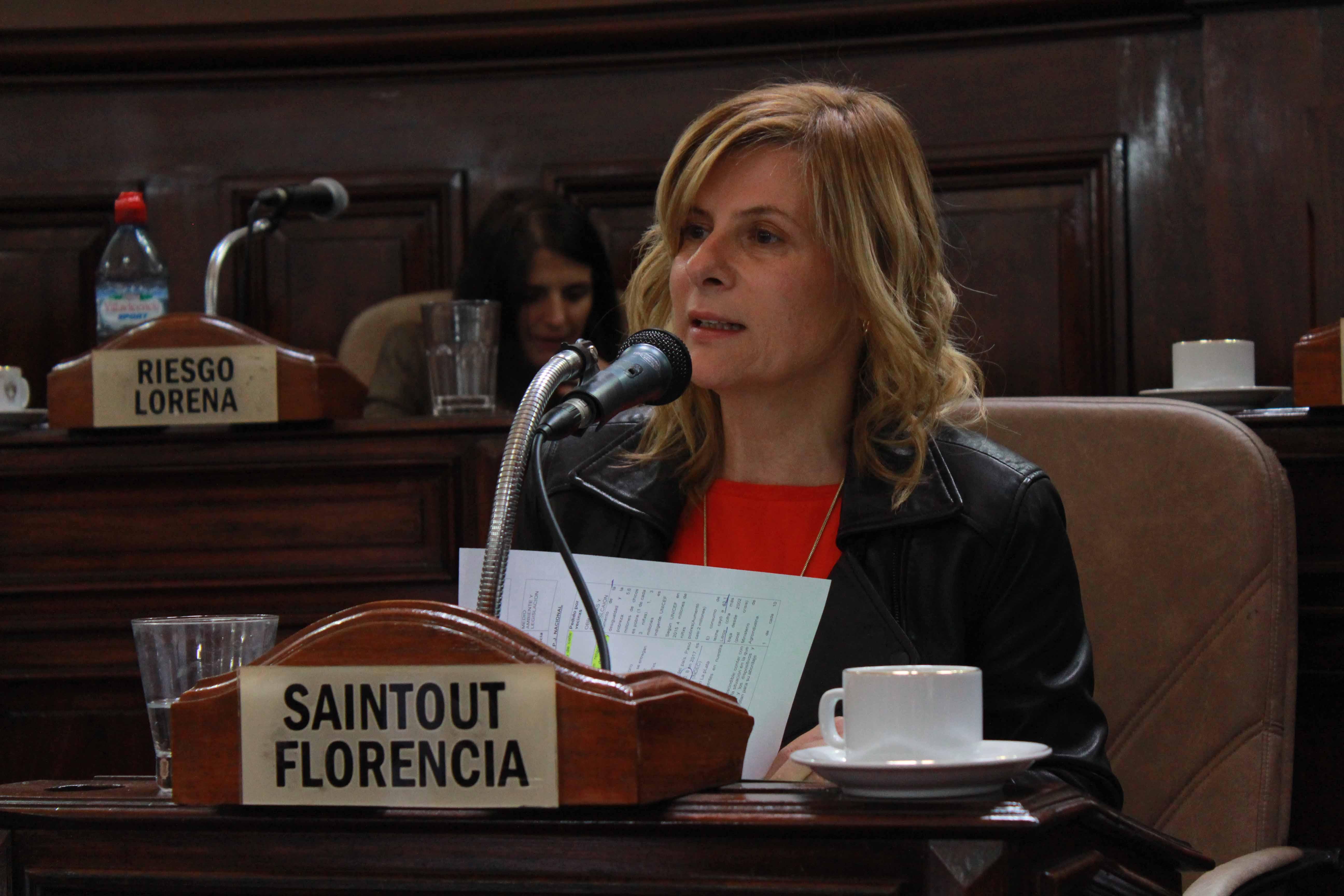 """""""20 mil niños menores de 5 años en La Plata son pobres y 2.800 son indigentes"""", denunció Florencia Saintout"""