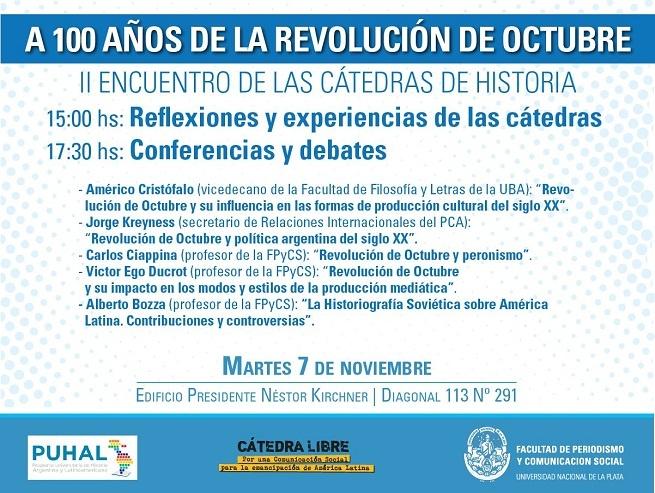 En Periodismo de la UNLP el 7 de noviembre reflexionan sobre la Revolución de Octubre, a un siglo de aquellas jornadas