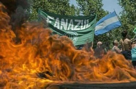 """Los trabajadores de Fanazul volvieron a la ruta contra los despidos del """"Milico"""" Aguad"""