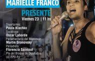 Florencia Saintout el viernes en una mesa por la concejal brasileña asesinada, Marielle Franco