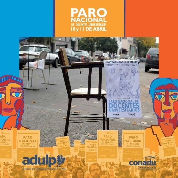 ADULP participa en forma activa en el Paro Nacional de Docentes Universitarios con cortes de ruta cerca de La Plata