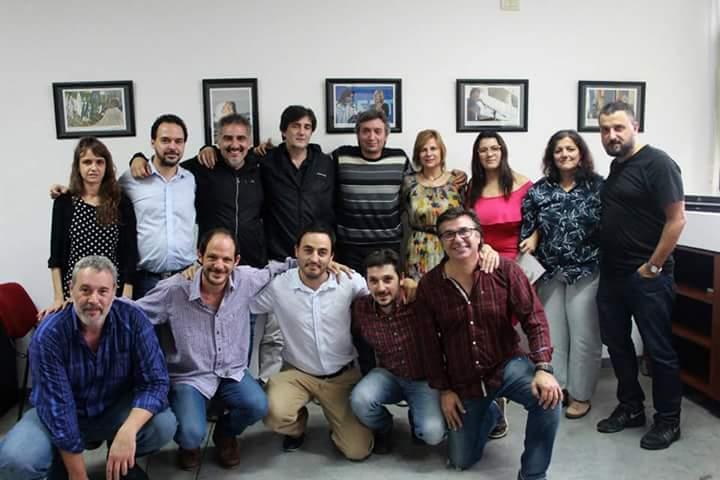 Florencia Saintout y Máximo Kirchner con periodistas y en defensa del derecho a la comunicación