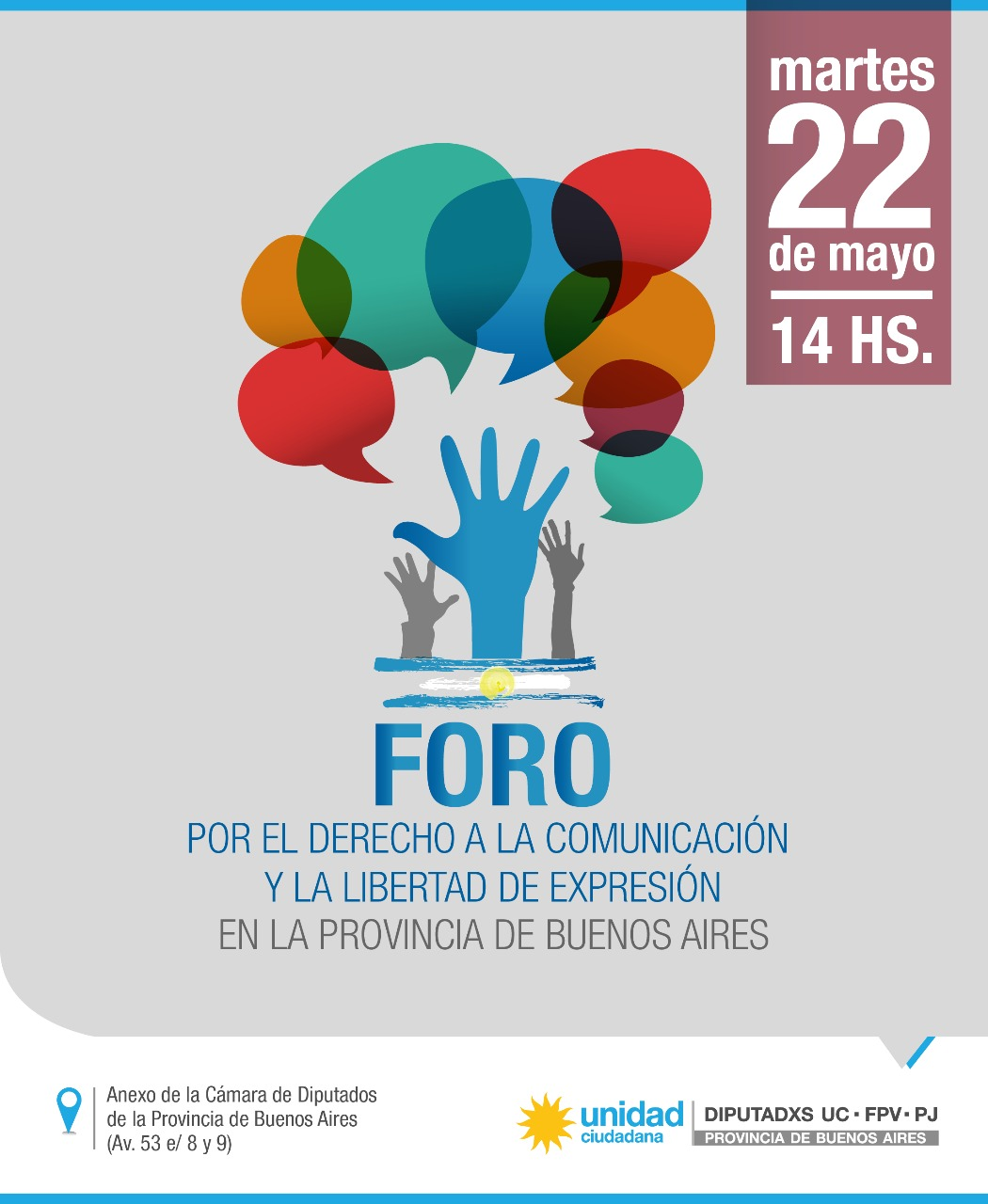 Legisladores de Unidad Ciudadana realizarán un Foro por el Derecho a la Comunicación y la Libertad de Expresión