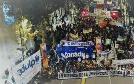Fue multitudinaria la presencia de ADULP en la marcha por la Universidad Pública