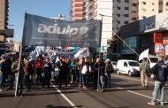 ADULP se hizo presente en la columna sur de la Marcha Federal Educativa