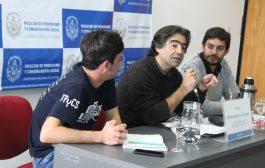 """""""Macri está haciendo el desguace más formidable de la educación pública"""", afirmó Diego Tatián al visitar Periodismo de la UNLP"""