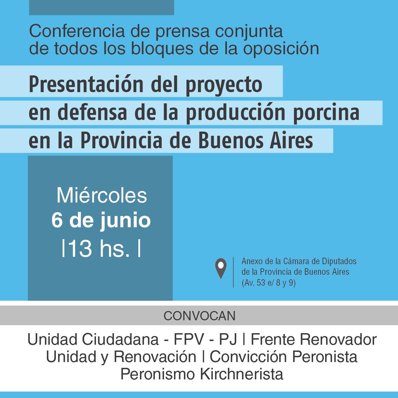 La oposición a Vidal se muestra unida: impulsan un proyecto para poner un freno a la crisis de producción porcina