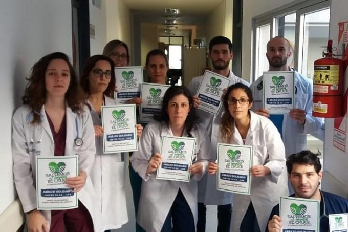 El abrazo al Hospital El Cruce, de Florencio Varela, es fuerte, justo y solidario