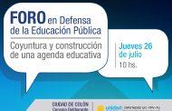 El Foro en Defensa de la Educación Pública tendrá lugar en Colón