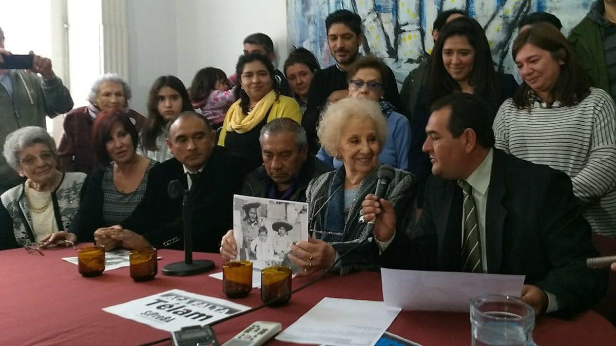 Abuelas anunció la restitución de la identidad del nieto 128