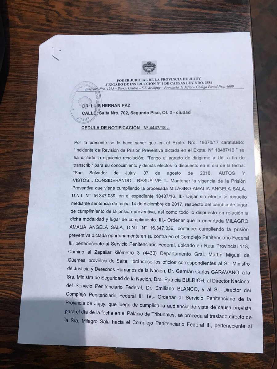 """Florencia Saintout: """"El Poder Judicial de Jujuy y su sicario, Pullen LLermanos, quieren muerta a Milagro Sala"""""""