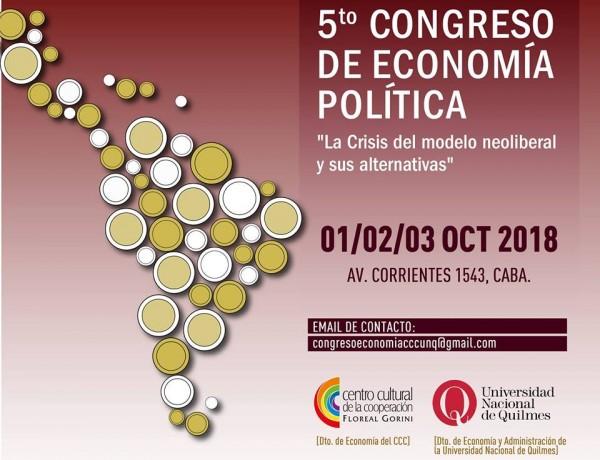 Ernesto Mattos,  Axel Kicillof y Carlos Heller exponen en el Quinto Congreso de Economía Política