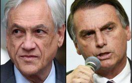 """Esto sí que es estar rodeados y jodidos: el chileno Piñera dijo que Bolsonaro """"va en el camino correcto"""""""