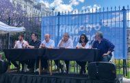 El vicedecano de Periodismo UNLP, Pablo Bilyk, condenó al presupuesto en las puertas del Congreso