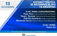 Periodismo de la UNLP debate sobre el rol de las iglesias en el entramado político latinoamericano