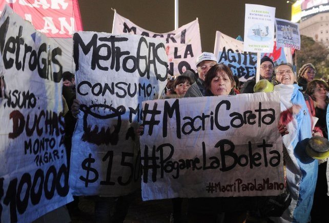 Gracias a Macri, el aumento de las tarifas de servicios públicos llegará a acumular más de 3500%