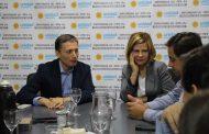 Saintout e integrantes del bloque UC-FPV-Pj en Diputados de la provincia se reunieron con Fernando Gray