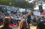 """""""Son ustedes la garantía de un gobierno popular"""", arengó a los jóvenes de La Plata Florencia Saintout"""
