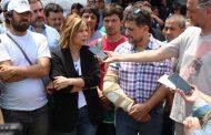 Saintout acompañó el reclamo de los cooperativistas de La Plata despedidos por Garro