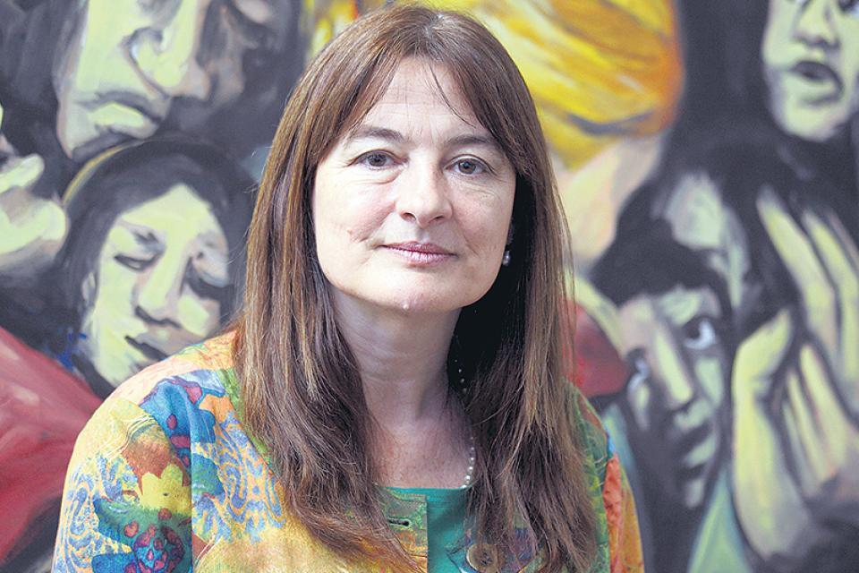 """""""La justicia social es con igualdad de género"""", dice la ministra Estela Díaz"""